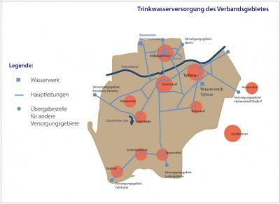 Karte-Trinkwasserversorgung